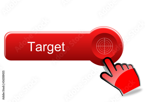 Target button with red hand