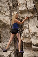 looking down rock rope