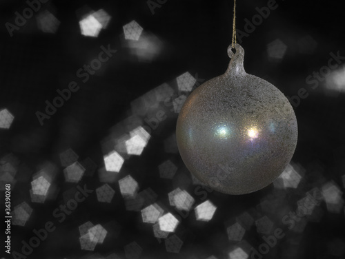 translucent multicolored Christmas bauble