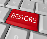 Restore Key on Computer Keyboard  - Save or Salvage Rescue poster