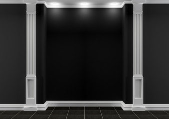 Black and white hall with classic decor
