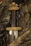 Scandinavian sword on a fur poster
