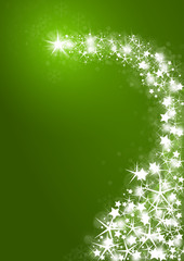 Magical Christmas background in green