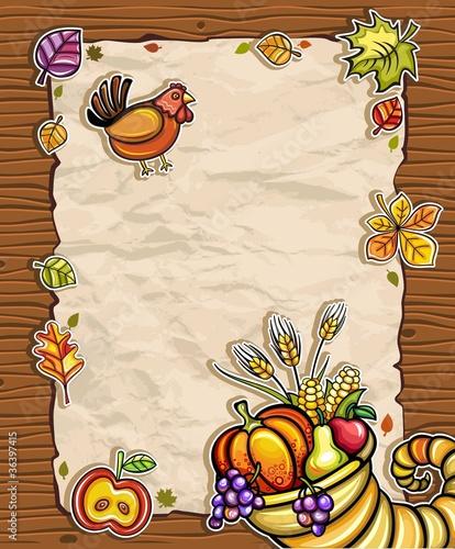 Thanksgiving theme 5: Beautiful Holiday paper arrangement