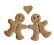Gingerbread cookies in love