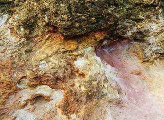 abstract colorful soil structure in Elba