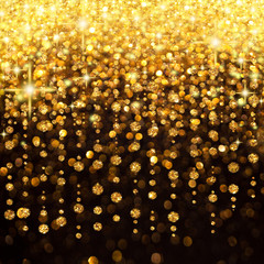 Rain of Lights Christmas or Party Background
