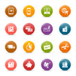 Colored dots -  - Online shopping icons