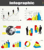 infographic vector graphs and elements poster