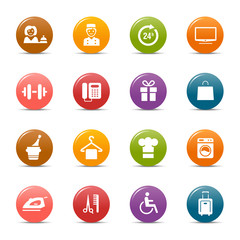 Colored dots - Hotel icons