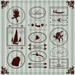 Vintage sailor marine elements illustration collection