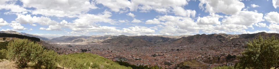 Stitched Panorama of Cuzco City