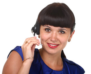 Business customer support operator woman