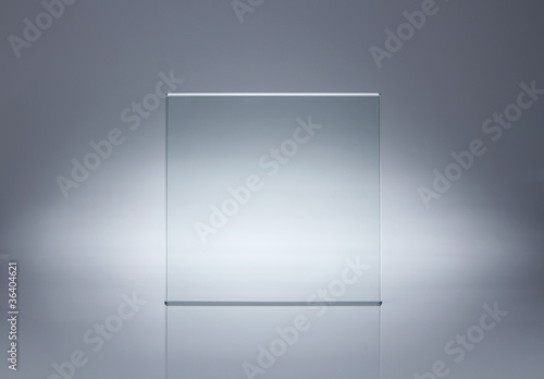 Photo of blank glass plate with copy space - 36404621