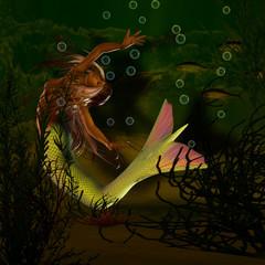Nixe unter Wasser