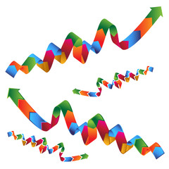 Wavy Ribbon Profit Arrow