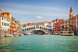 Rialto Bridge over Grand canal in Venice