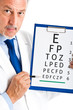 Oculist doctor with an eye chart