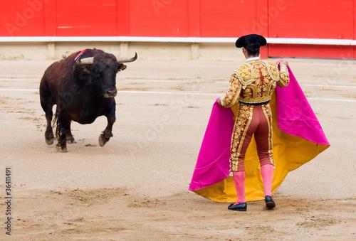 Leinwandbild Motiv Bullfighting in Barcelona