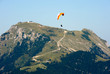 Paragider above the Alps
