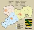 Kreiskarte Sachsen