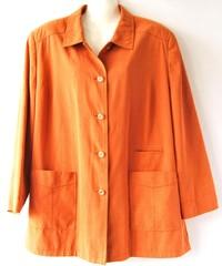 Herbstmode -Blusenjacke in orange