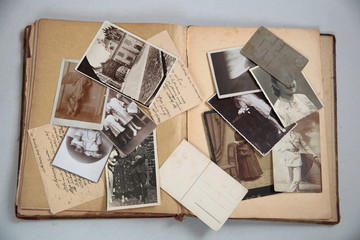 Old photos,postcards and letters.