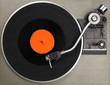 Record player with vinyl record - 36415806