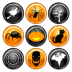 Halloween Button Icons