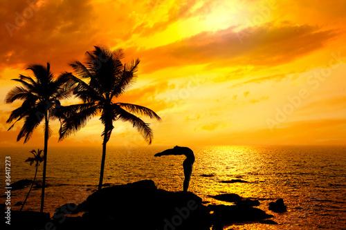 Yoga surya namaskar step