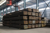 steel ingot in enterprise warehouse workshop poster