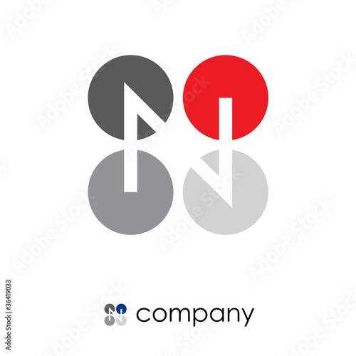 Logo letter N and Z, teamwork # Vector