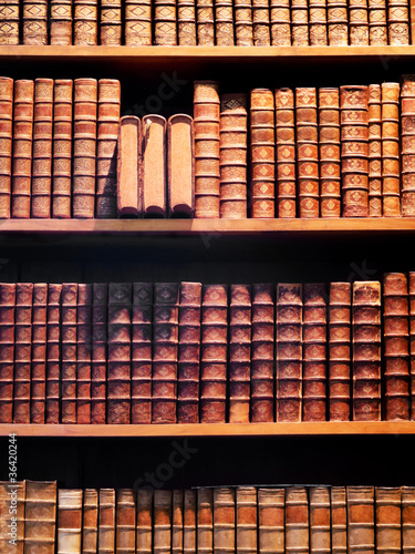 Foto op Canvas Bibliotheek Buchregal Antiquariat