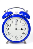 Wecker 3 Uhr / Three a clock  - blau / blue