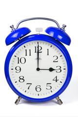 Wecker 3 Uhr / Three a clock  - blau / blue