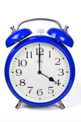 Wecker 4 Uhr / Four a clock  - blau / blue
