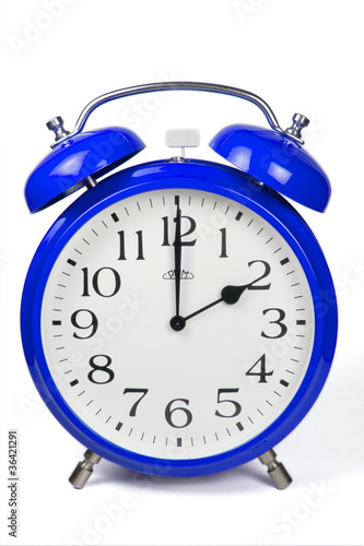 Wecker 2 Uhr / Two a clock  - blau / blue