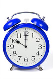 Wecker 10 Uhr / Ten a clock  - blau / blue