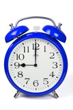 Wecker 9 Uhr / Nine a clock  - blau / blue