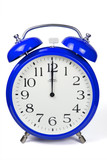 Wecker 12 Uhr / Twelve a clock  - blau / blue
