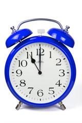 Wecker 11 Uhr / Eleven a clock  - blau / blue