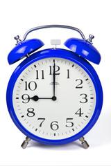 Wecker 9 Uhr / Nine a clock  - blau / blue