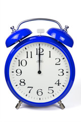 Wecker 12 Uhr / Twelve a clock  - blau / blue