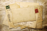 Fototapety Vintage background from old post cards