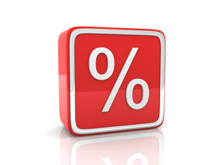 Red percentage icon.