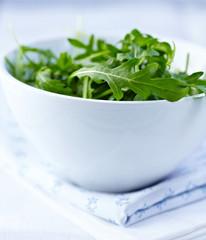 Fresh rocket salad in a bowl