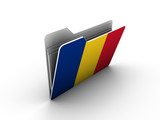 folder icon with flag of romania