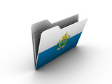 folder icon with flag of san marino