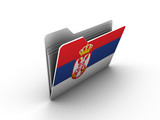 folder icon with flag of serbia