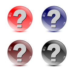 question colorful buttons